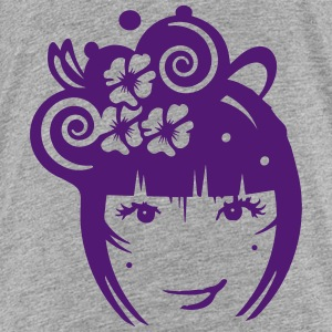 Girl with hair jewelry and flowers Shirts - Kids' Premium T-Shirt