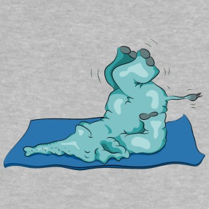 The elephant loves the shoulder stand in yoga Shirts - Baby T-Shirt