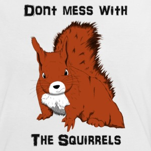 Don't Mess With The Squirrels T-skjorter - Kontrast-T-skjorte for kvinner