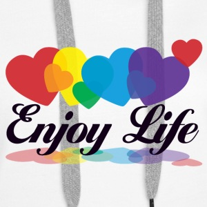 rainbow enjoy life Hoodies & Sweatshirts - Women's Premium Hoodie