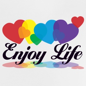 rainbow enjoy life Shirts - Baby T-shirt