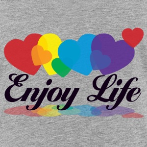 rainbow enjoy life T-Shirts - Teenager Premium T-Shirt