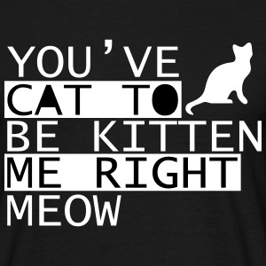 You Have Cat To Be Kitten Me Right Meow Tee shirts - T-shirt Homme