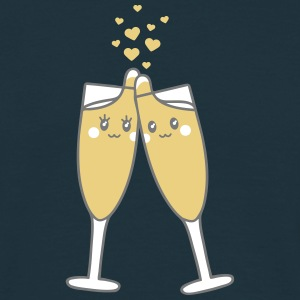 Champagne Glass Love T-shirts - Mannen T-shirt