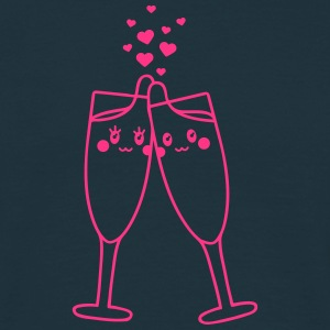 Champagne Glass Love T-shirts - Herre-T-shirt