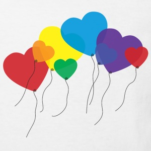 balloon hearts rainbow T-Shirts - Kinder Bio-T-Shirt
