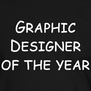 graphic designer of the year T-shirts - Herre kontrast-T-shirt