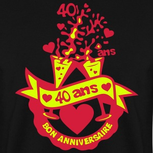 40 ans flute champagne anniversaire verr Sweat-shirts - Sweat-shirt Homme