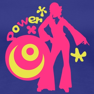 annee 70 years14 seventies disco peace Tee shirts - T-shirt Premium Femme