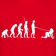 Evolution man goes walkies  T-Shirts