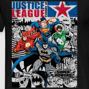 Justice League Comic Cover T-skjorte for menn - Premium T-skjorte for menn