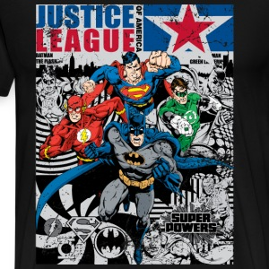Justice League Comic Cover T-shirt herr - Premium-T-shirt herr