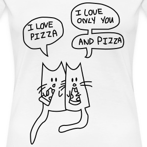 I LOVE PIZZA T-Shirts - Frauen Premium T-Shirt