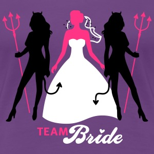 JGA - Team Bride - Braut - Security - Teufel 3C T-Shirts - Women's Premium T-Shirt