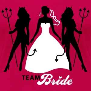JGA - Team Bride - Braut - Security - Teufel 2C T-Shirts - Women's Premium T-Shirt