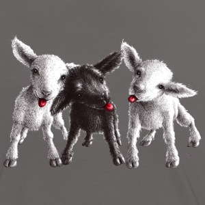 cheeky sheep - Kontrast-T-shirt dam