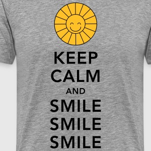 Keep calm and smile smile smile sunny summer sun T-Shirts - Men's Premium T-Shirt