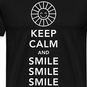Keep calm and happy smile sunny spring summer sun T-Shirts - Men's Premium T-Shirt