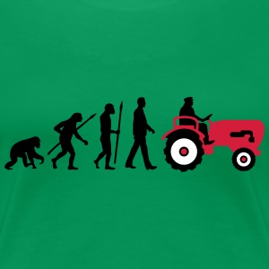 evolution_bauer_mit_treaktor_032013_a_3c T-Shirts - Frauen Premium T-Shirt