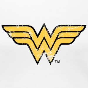 Justice League Wonder Woman Logo T-shirt dam - Premium-T-shirt dam