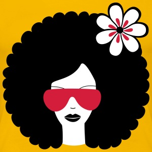 Curly haired sommer girl with flower T-Shirts - Women's Premium T-Shirt