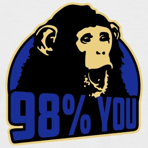 98 percent you monkey T-Shirts - Men's Baseball T-Shirt