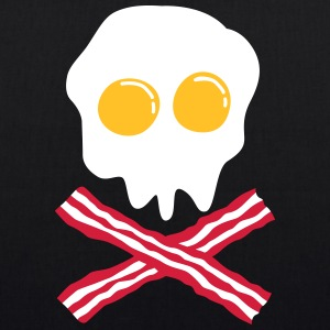 bacon & egg skull Bags  - EarthPositive Tote Bag