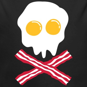 bacon & egg skull Hoodies - Baby One-piece