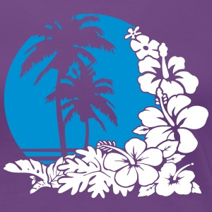 palm sunset ocean T-Shirts - Women's Premium T-Shirt
