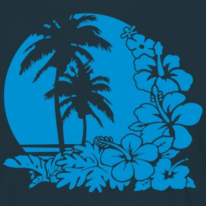palm sunset ocean T-Shirts - Männer T-Shirt