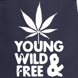 young wild and free weed leaf  Aprons - Cooking Apron