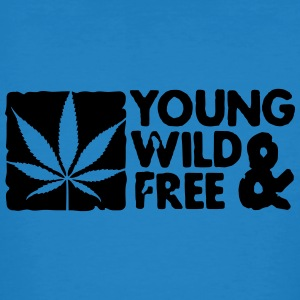 young wild and free weed leaf boxed T-Shirts - Men's Organic T-shirt