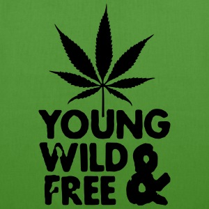 young wild and free weed leaf Sacs - Sac en tissu biologique