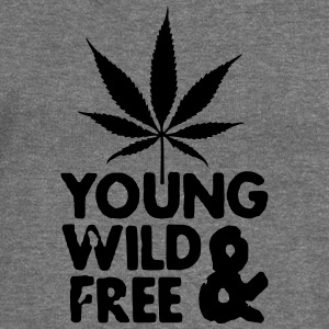 young wild and free weed leaf Sweat-shirts - Pull Femme col bateau de Bella