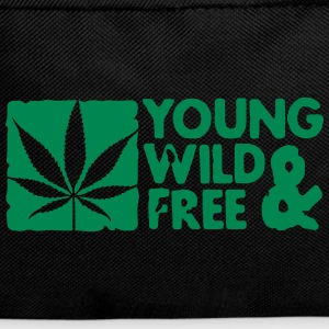 young wild and free weed leaf boxed Taschen - Rucksack