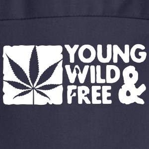 young wild and free weed leaf boxed Fartuchy - Fartuch kuchenny