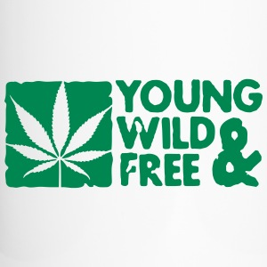 young wild and free weed leaf boxed Botellas y tazas - Taza termo
