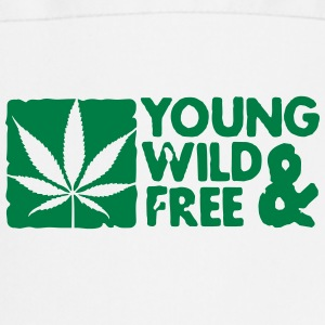 young wild and free weed leaf boxed Forklær - Kokkeforkle