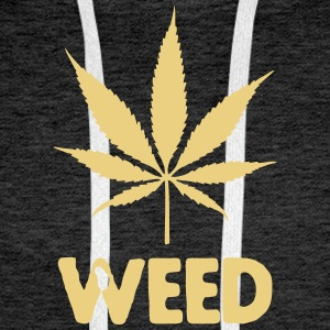 weed with leaf Sweat-shirts - Sweat-shirt à capuche Premium pour hommes