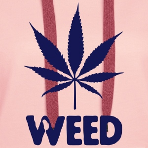 weed with leaf Sweat-shirts - Sweat-shirt à capuche Premium pour femmes