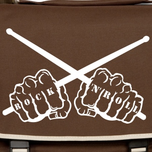 rock 'n' roll drummer fists Bags  - Shoulder Bag