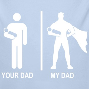 your dad, my dad - Baby Bio-Langarm-Body