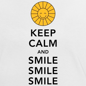 Keep calm and smile smile smile sunny summer sun T-shirts - Vrouwen contrastshirt