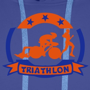 triathlon cyclisme velo7 marathon natati Sweat-shirts - Sweat-shirt à capuche Premium pour hommes