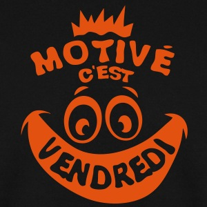motive vendredi weekend fin semaine smil Sweat-shirts - Sweat-shirt Homme