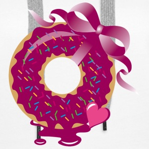 A donut with a ribbon Hoodies & Sweatshirts - Women's Premium Hoodie