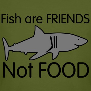 shark drawing fish are friends T-shirts - Ekologisk T-shirt herr
