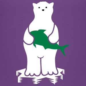 Polar bear with fish Shirts - Kids' Premium T-Shirt