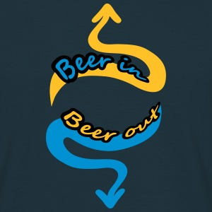 Beer In Beer Out T-shirts - Mannen T-shirt