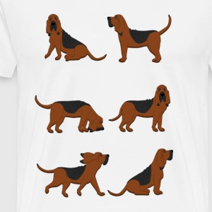 six bloodhounds T-shirts - Herre premium T-shirt
